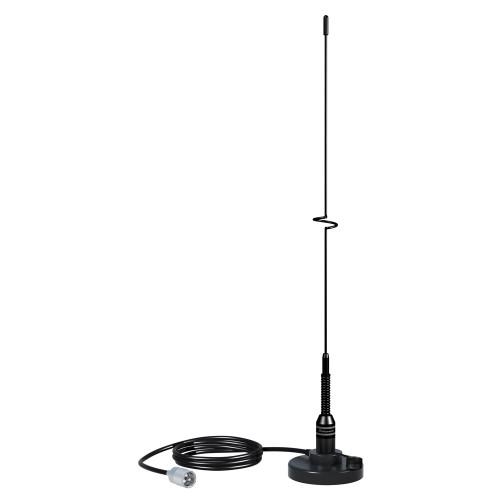 """Shakespeare VHF 19"""" 5218 Black SS Whip Antenna - Magnetic Mount"""