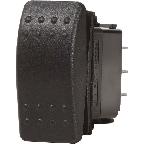 Blue Sea 7933 Contura II Switch SPDT Black - (ON)-OFF-(ON)