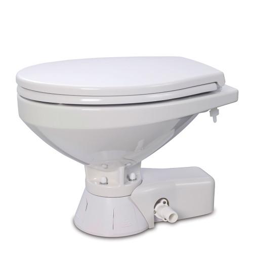 Jabsco Quiet Flush Raw Water Toilet - Regular Bowl - 24V