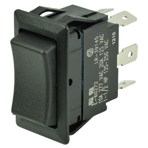 BEP DPDT Rocker Switch - 12V\/24V - (ON)\/OFF\/(ON)
