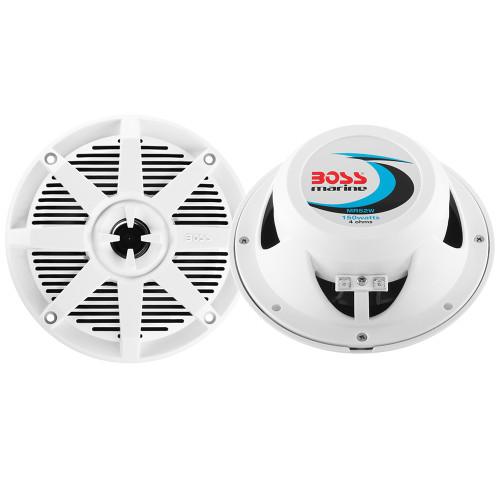 """Boss Audio MR52W 5.25"""" 2-Way 150W Marine Speaker - White - Pair"""