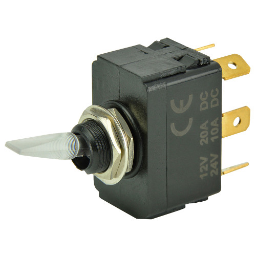 BEP SPDT Lighted Toggle Switch - ON\/OFF\/ON