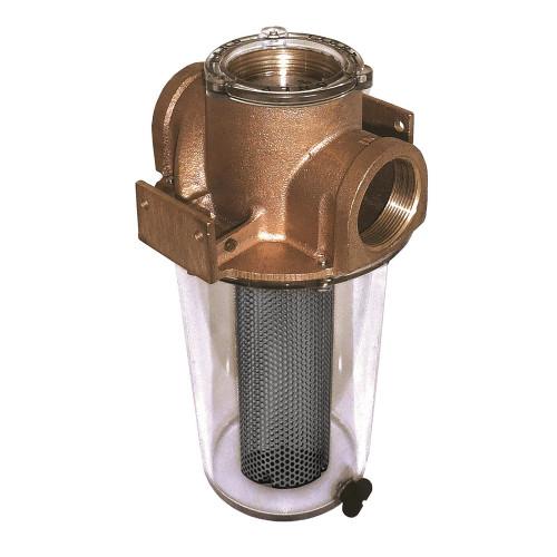 """GROCO ARG-1250 Series 1-1\/4"""" Raw Water Strainer w\/Monel Basket"""