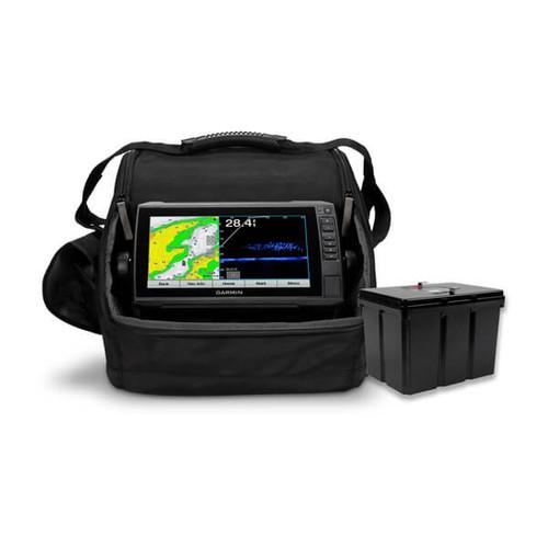 Garmin Echomap Uhd 93sv Panoptix Livescope Ice Bundle Us Lakevu G3 Li-ion Battery