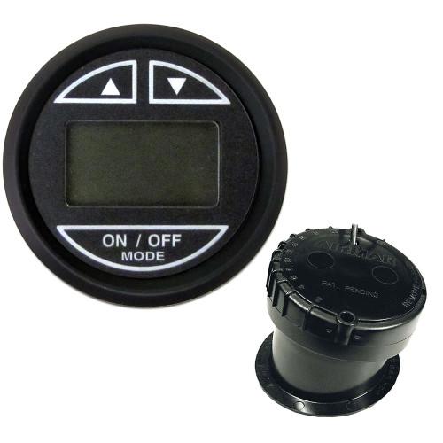 "Faria Euro Black 2"" Depth Sounder w\/In-Hull Transducer"