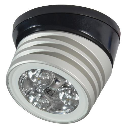 Lumitec Zephyr LED Spreader/Deck Light -Brushed, Black Base - White Non-Dimming