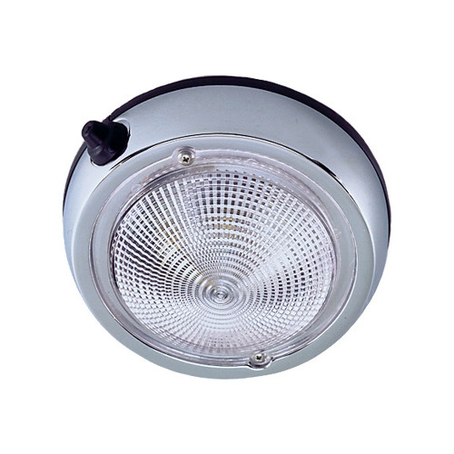 Perko Surface Mount Dome Light - 3 - Chrome Plated