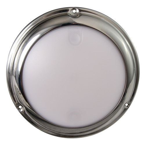 Lumitec TouchDome - Dome Light - Polished SS Finish - 2-Color White/Blue Dimming