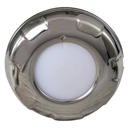 Lumitec Aurora - LED Dome Light - Polished SS Finish - 2-Color White/Blue Dimming