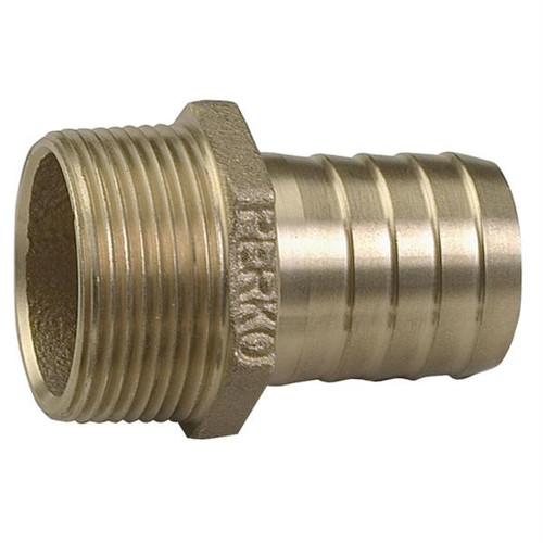 Perko 1-1/4 Pipe to Hose Adapter Straight Bronze MADE IN THE USA