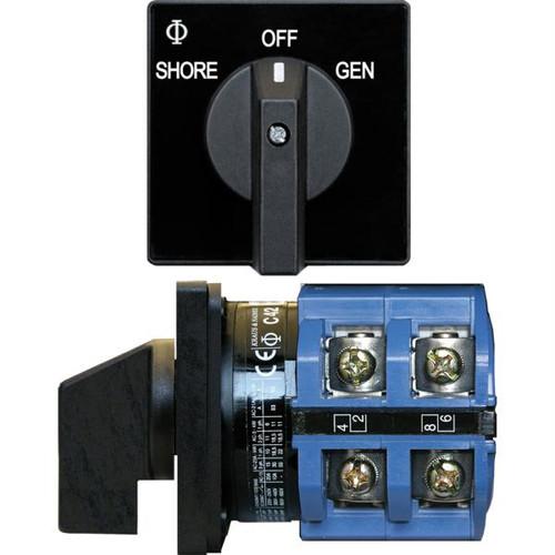 Blue Sea 9011 Switch, AV 120VAC 65A OFF +2 Positions
