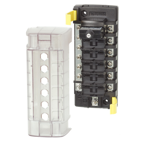 Blue Sea 5052 ST CLB Circuit Breaker Block - 6 Position w\/Negative Bus