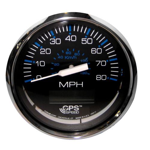 Faria Chesapeake Black SS 4 Speedometer - 80MPH (GPS)
