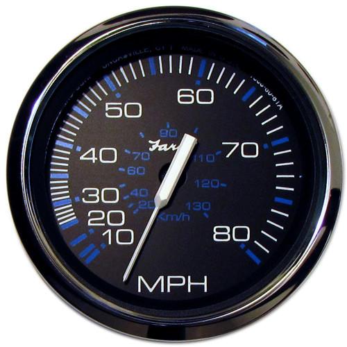 Faria Chesapeake Black SS 4 Speedometer - 80MPH (Mechanical)