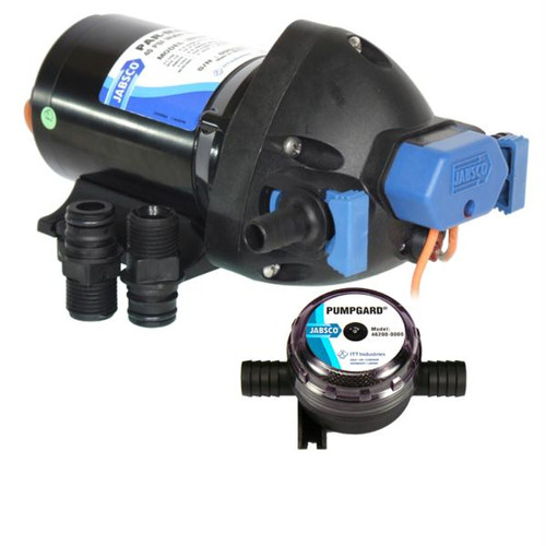 Jabsco Par-Max Shower Drain/General Purpose Pump - 3.5GPM-25psi-12VDC - w/Strainer