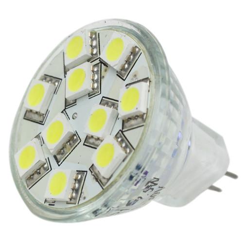 Lunasea MR11 LED Bulb - 10-30VDC/2.2W/140 Lumens - Warm White