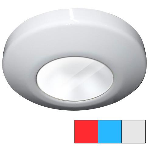 i2Systems Profile P1120 Tri-Light Surface Light - Red, White, Blue Light, White Finish