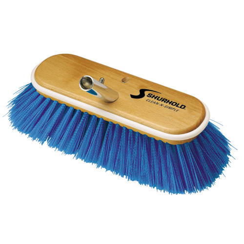 Shurhold 10 Extra-Soft Deck Brush - Blue Nylon Bristles