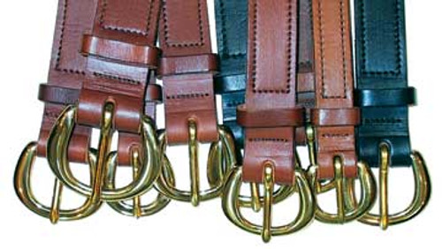 Stitched construction available with or without Polished Engraved Halter (Name) Plate