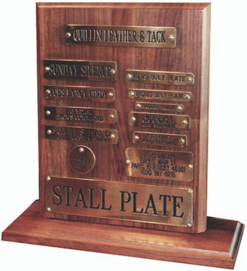 Saddle Plates to Stall and Stallion Plates. All Deeply engraved and hand polished in our Main Street Paris KY shop