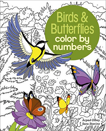 Birds & Butterflies Color by Numbers (Arcturus Color by Numbers Collection)