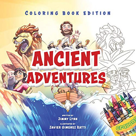 Ancient Adventures: 20 Epic Stories from the Bible, Coloring Book Edition