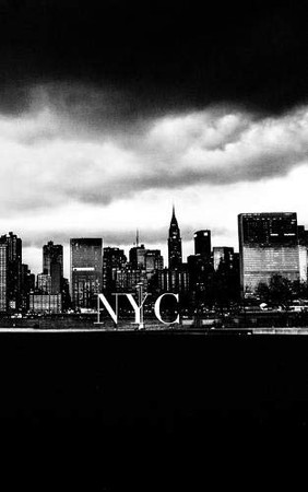 Iconic Manhattan skyline Night Writing Draawing Journal