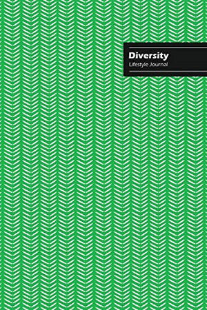 Diversity Lifestyle Journal, Creative Write-in Notebook, Dotted Lines, Wide Ruled, Medium Size (A5), 6 x 9 Inch (Green)
