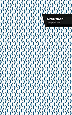 Gratitude Lifestyle Journal, Creative Write-in Notebook, Dotted Lines, Wide Ruled, Size (A5) 6 x 9, (White-Blue)