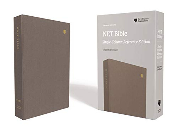 NET Bible, Single-Column Reference, Cloth over Board, Gray, Comfort Print: Holy Bible