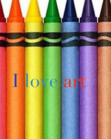 I love art crayon creative mega blank coloring book 480 pages 8x10