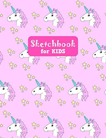 Sketchbook for Kids: Adorable Unicorn Large Sketch Book for Drawing, Writing, Painting, Sketching, Doodling and Activity Book- Birthday and Christmas ... Boys, Teens and Women - Lilly Design # 0081