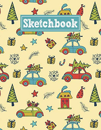 Sketchbook: 8.5 x 11 Notebook for Creative Drawing and Sketching Activities with New Year Themed Cover Design