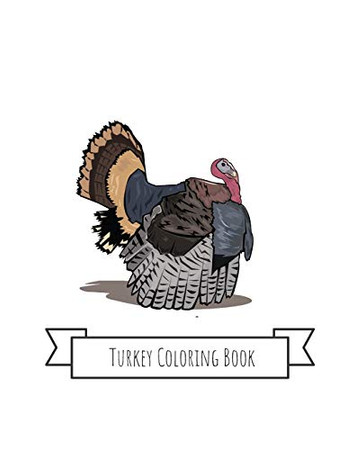 Turkey Coloring Book: Turkey Gifts for Kids 4-8, Girls or Adult Relaxation   Stress Relief Turkey lover Birthday Coloring Book Made in USA