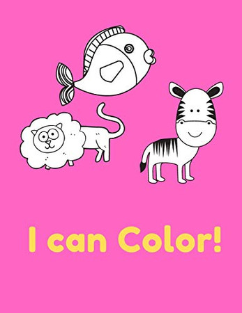 I Can Color!: high-quality black&white Alphabet coloring book for kids. Toddler ABC coloring book