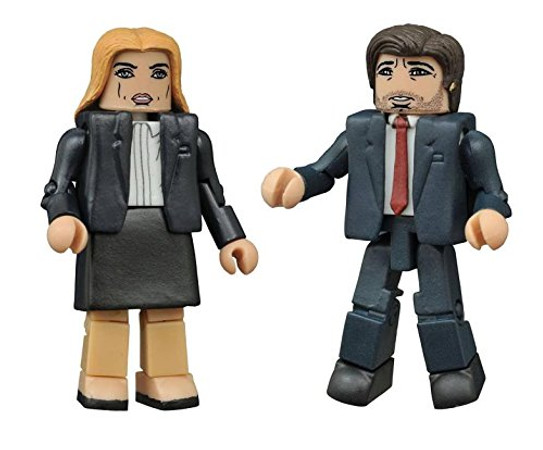 DIAMOND SELECT TOYS The X-Files: Modern Mulder & Scully Minimates Action Figure (2 Pack)