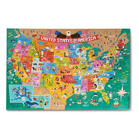 Melissa & Doug Natural Play 60pc Giant Floor Puzzle - America The Beautiful
