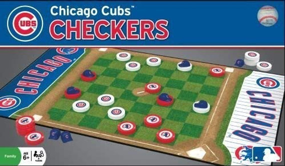MasterPieces MLB Chicago Cubs Checkers Board Game