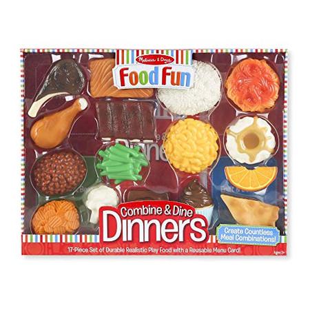 Melissa & Doug Food Fun Combine & Dine Dinners - Red