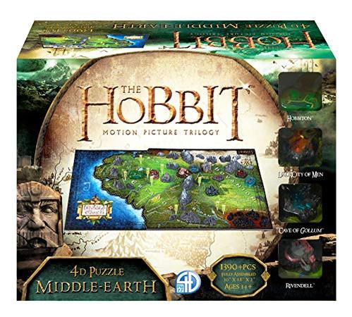 4D Cityscape Hobbit Middle Earth 3D Time Puzzle (1390 Piece)