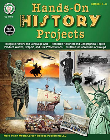Mark Twain - Hands-On History Projects Resource Book, Workbook, 64 Pages, Grades 5–8