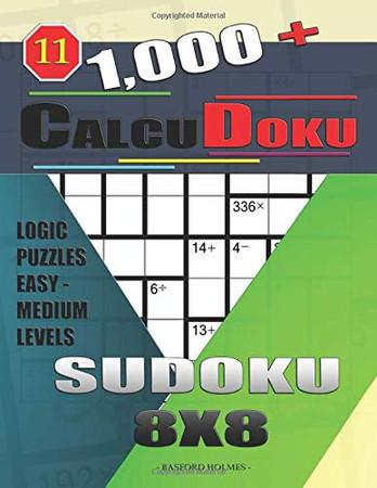 1,000 + Calcudoku sudoku 8x8: Logic puzzles easy - medium levels (Sudoku CalcuDoku)