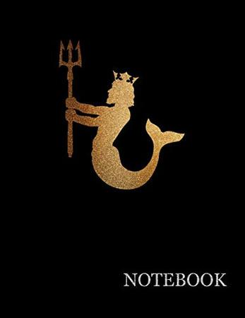 Ancient Greek God Poseidon Notebook| Ancient Greek God Poseidon Notebook Grid Sturdy High Quality Premium White Paper 8.5x11 200 pages| (Golden Black)