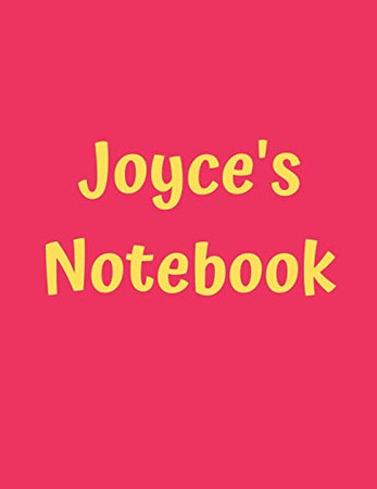 """Joyce's Notebook: Pink Cover, College Ruled, 100 Sheets, 8.5"""" x 11"""" (Letter Size), White Paper (Women's Custom Names)"""