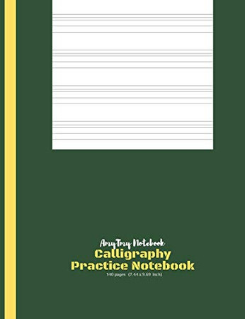 Calligraphy Practice Book | AmyTmy Notebook | 140 pages | 7.44 x 9.69 inch | Matte Cover