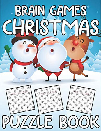Brain Games Christmas Puzzle Book: 32 Word Search Puzzles for Everyone (Fun Puzzlers Large Print Word Search Books)