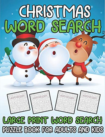 Christmas Word Search Large Print Word Search Puzzle Book for Everyone: Christmas Puzzle Book for Children (Positive Kids Activity Books)