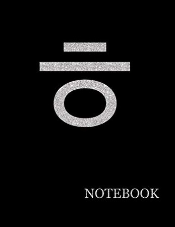 Korean Letter Korean Notebook| Korean Letter Black Notebook Grid Sturdy High Quality Premium White Paper 8.5x11 200 pages (Luxury Silver)
