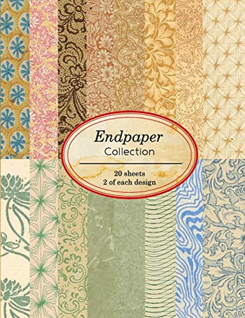 Endpaper Collection: 20 sheets of vintage endpapers for bookbinding and other paper crafting projects (Vintage Paper Books)