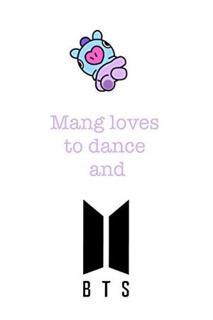 Mang loves to dance and BTS: Notebook for Fans of BTS, Jungkook, K-Pop and BT21 (BTS_EN)